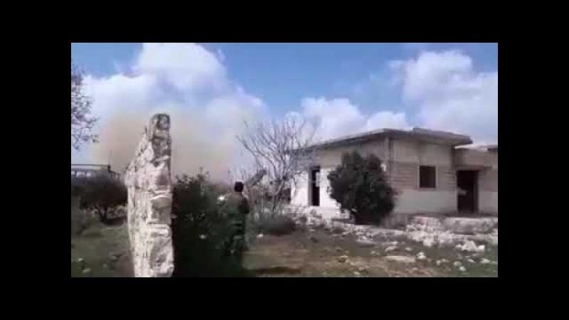 Курды применяют БМ-21 по туркам 14.03.18