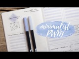 Bullet Journal Plan With Me  January 2018  Minimal &amp Simple  Full Flourish