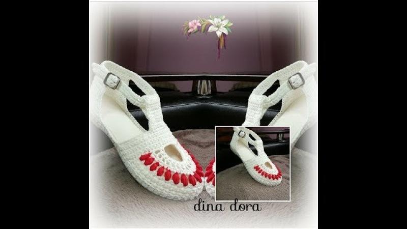 Sandale crosetate pentru femei