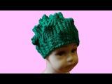 Шапка Элиза. Модная шапка спицами. Вязание модной шапки. (knitting cap)