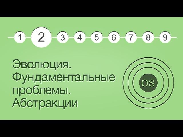 Операционные системы, урок 2 Эволюция ОС. Фундаментальные проблемы. Слои абстракции.