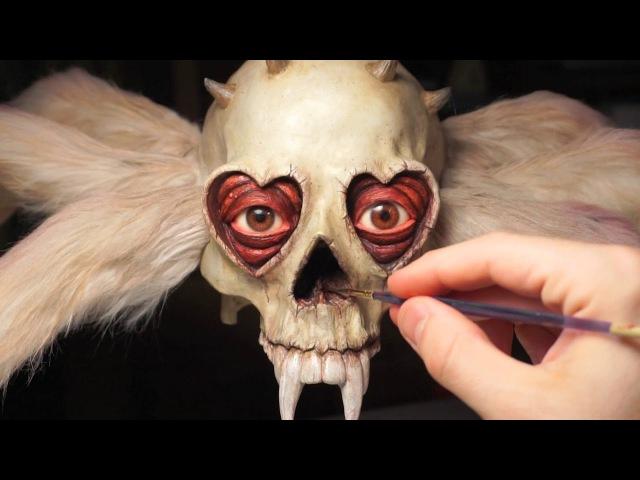 Spider Skull Jim McKenzie x Ron English custom sculpture