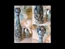 BOTELLA RECICLADA DIY De lujo¡¡¡¡ y unas flores de filtros de café