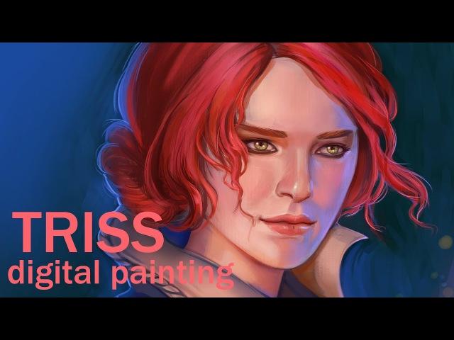 Triss|Трисс - Witcher3|Ведьмак3 - digital painting