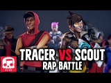 TRACER VS SCOUT Rap Battle by JT Machinima (Animated Version)