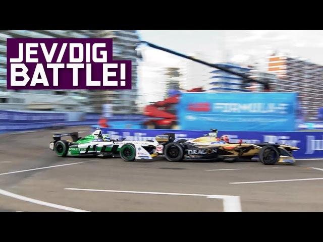 JEV vs Di Grassi Best Battle in ABB Formula E History