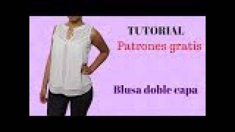 DIY Como hacer una blusa doble capa corte y confección