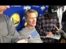 Entire STEVE KERR interview: shooting under-handed bec he's old AF , Looney tooth update