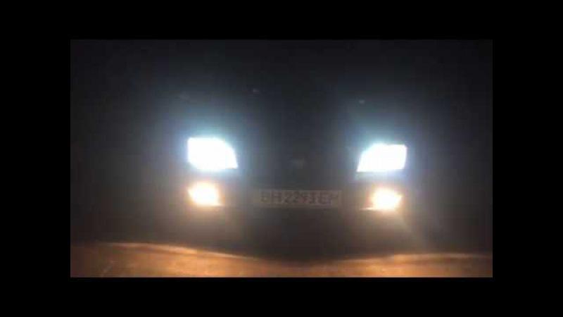 обзор на turbo led биксенон H4 на toyota carina E