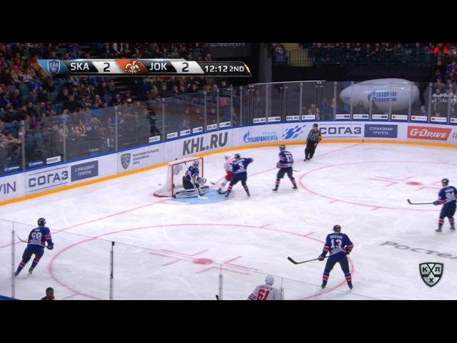 Моменты из матчей КХЛ сезона 16/17 • Гол. 2:3. Томми Хухтала (Йокерит) вывел финнов вперёд 19.01