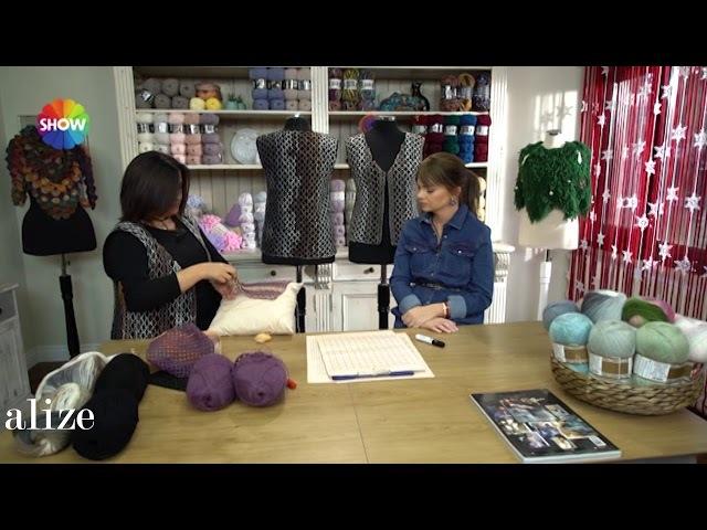 Alize Angora Gold Batik ile Yelek Yapımı Making Knitting Vest with Alize Angora Gold Batik