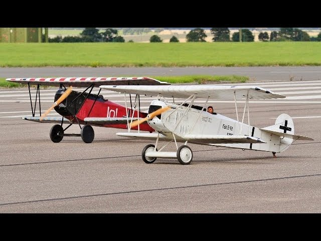 DAWN PATROL GIANT 1/3 SCALE MULTIPLE RC WW1 SCOUT / FIGHTERS - BMFA NATIONALS 2 - 2017