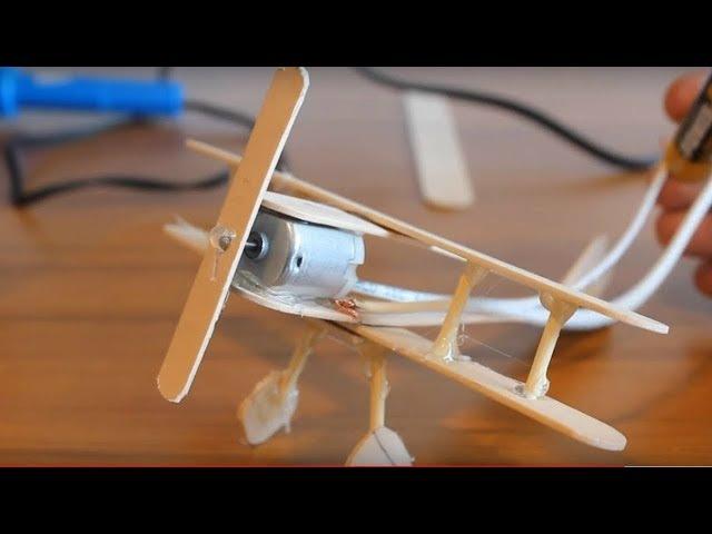 Evde Basit Dc Motorlu Uçak Nasıl Yapılır