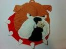 Прихватка - пес Бульдог,ч.1. Pothook - dog Bulldog, р.1. Amigurumi. Crochet. Амигуруми.