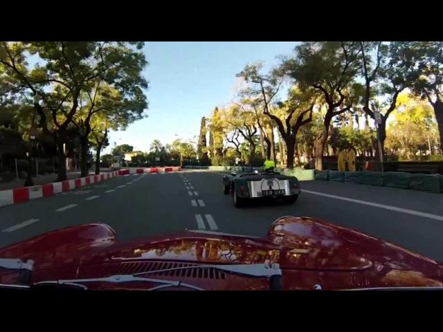 Montjuic revival 2012 Porsche 356. 6 vueltas al circuito primera y única tanda de los históricos.