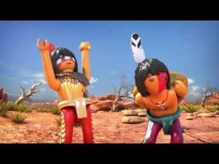 Kızılderili Çizgi film Eğlenceli Çocuk Video PLAYMOBIL