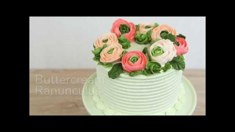 How to Make Buttercream Ranunculus Global Sugar Art Cake Decorating