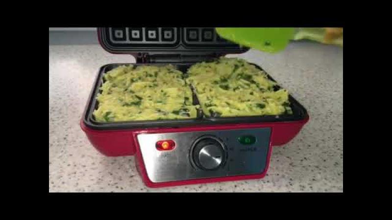 Картофельные вафли запеканка без муки в электровафельнице GFW-015 Waffle Plus