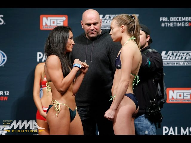 TUF 20 Finale Weigh ins Carla Esparza vs Rose Namajunas