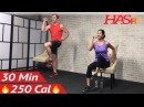 HASfit Senior Workout Routines Standing Seated Chair Exercise Низкоударная тренировка на стуле