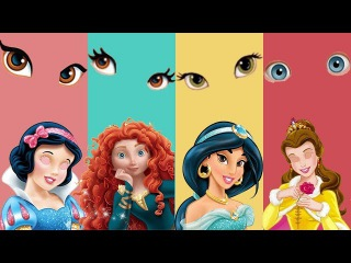 Wrong Eyes Disney Princess Snow White Belle Merida Jasmine Family Finger Song Nursery Rhymes