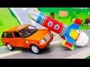 Мультики про машинки. Видео с новой Игрушкой - Взлетающая ракета. ЛЕГО мультфиль ...