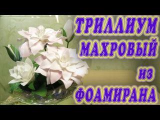 Триллиум махровый из фоамирана Flowers of terry trelliuma foamiran