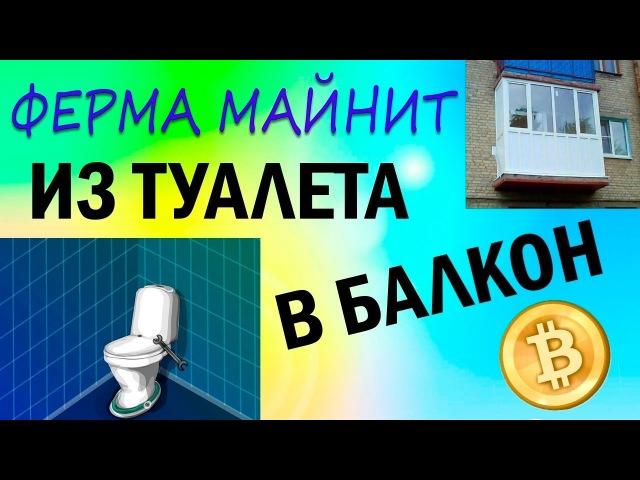 Переезд МАЙНИНГ ФЕРМЫ из туалета на балкон