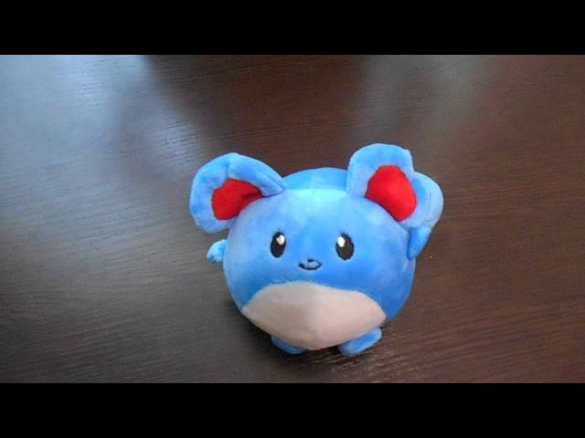 Покемон Томи Мэрилл (Tomy Marill), плюшевая игрушка, 11 см,купить в Украине, обзор