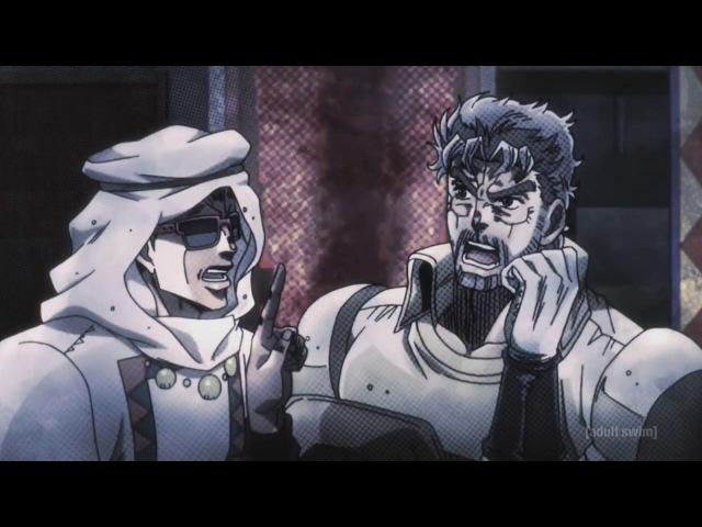 Stardust Crusaders (English Dub) - Joseph vs Kebab Vendor