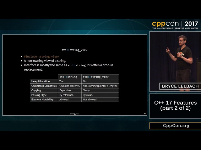 """CppCon 2017 Bryce Adelstein Lelbach C 17 Features part 2 of 2 """""""