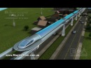 Magnetic levitation twin pipe transport system - advanced maglev train technology