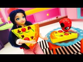 Мультик #ЛедиБаг🐞 и игры в куклы. #Маринетт и Квами Тикки ГОТОВЯТ ПИЦЦУ🍕. Видео ...