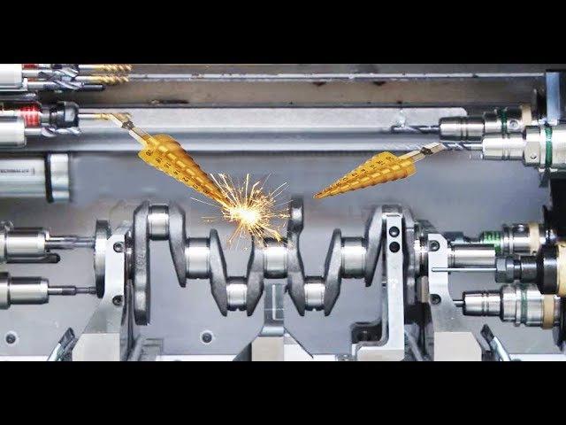 Germany CNC Technology - Complete a Crankshaft for Volkswagen Super Car Engine
