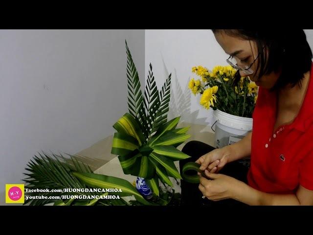 Cắm hoa bàn thờ tập 71| CÁCH CẮM HOA CÚC HƯƠNG VÀNG NGÀY RẰM