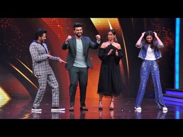 Anil Kapoor,Arjun Kapoor,Athiya Shetty Ileana Dcruz and Raveena Tandon at Sabse Bada Kalakar Show