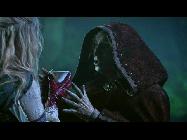 Once Upon A Time 7x10 Robine And Alice True Love Kiss Scene - Rumple Gives The Cup To Alice