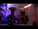 Electric music lights a lamp (электрическая музыка зажигает лампу)