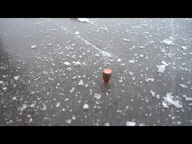 Выстрел в лед поведение пули
