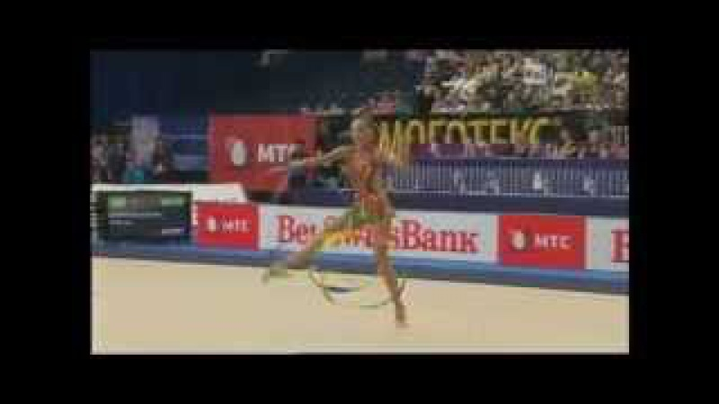 Дарья Кондакова - лента (командное многоборье) Чемпионат Европы 2011