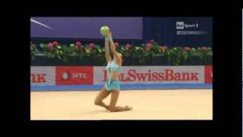Дарья Дмитриева - мяч (командное многоборье) Чемпионат Европы 2011