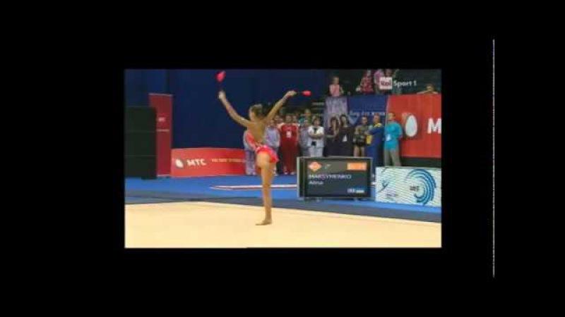 Дарья Кондакова - булавы (командное многоборье) Чемпионат Европы 2011
