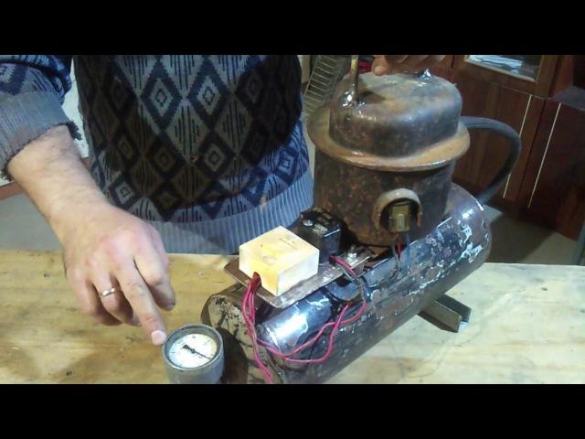 Самодельный бесшумный мини компрессор из холодильника Mini air compressor from fridge