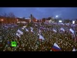 Владимир Путин принял участие в митинге концерте «Россия Севастополь Крым»
