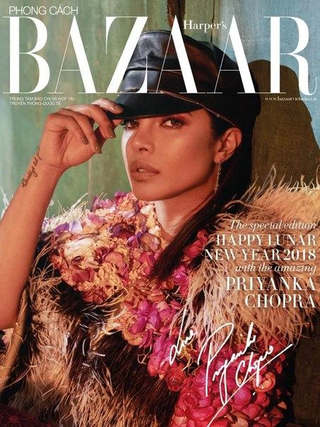 Приянка Чопра стала героиней февральского выпуска Harper's Bazaar Vietnam / 2018
