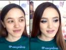 Ксения Саватеева. Нежный макияж для Елены (до и после)
