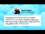 WWE Superstars celebrate Daniel Bryan and Brie Bellas baby