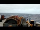 Начало шторма в Атлантическом океане