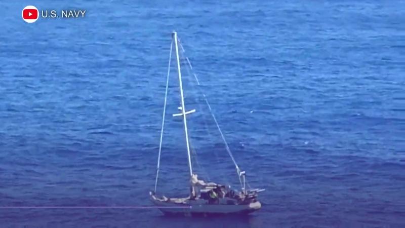 Девушек с собаками на дрейфующей яхте спасли в Тихом океане