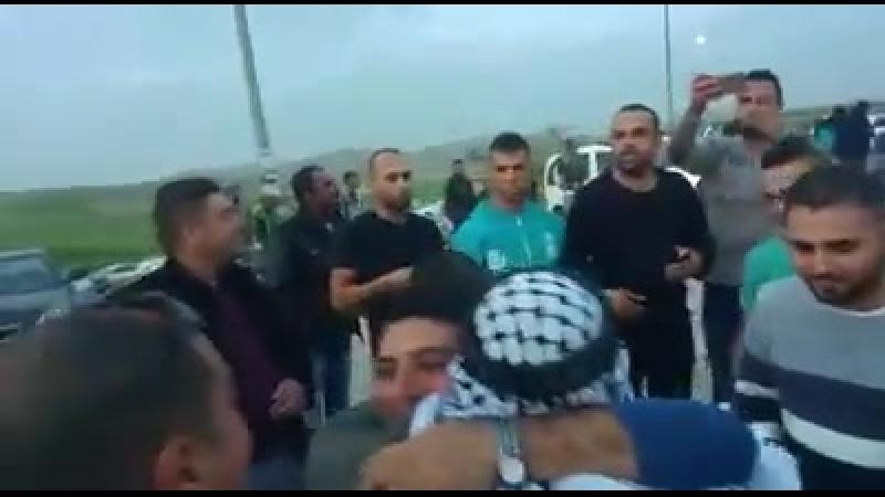 Video_watan où on voit l'accueil réservé au prisonnier politique Mohammad Hassan Abou Sourra de Bethléem, après avoir passé 1